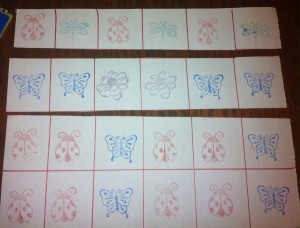 Insect Stamping Activities  - allow child to complete pattern