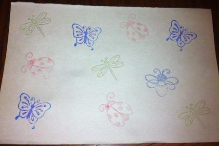 Insect Stamping Activities - stamping for fun