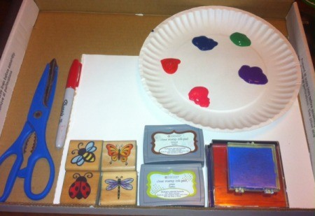 Insect Stamping Activities - supplies