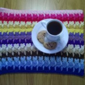 Multi Colored Place Mat Using Chinless Foundation - finished mat