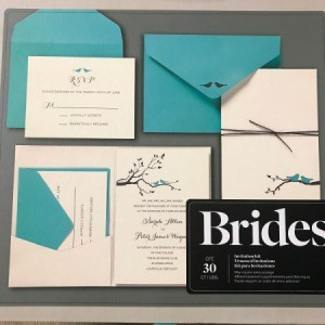 A kit for printing your own wedding invitations.