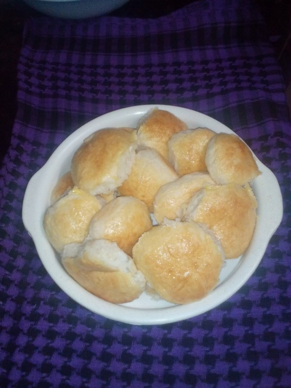 Easy No Knead Bread baked in bowl