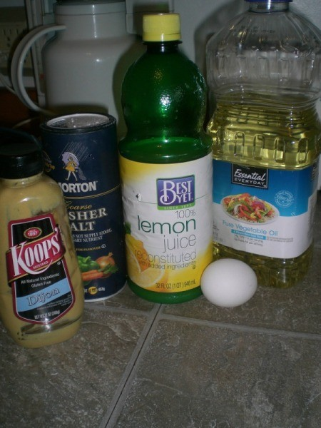 Easy Mayonnaise ingredients