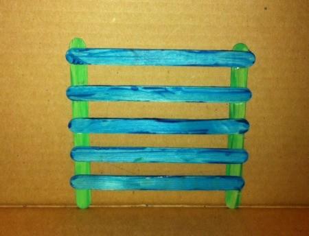 Craft Stick Earring Holder - glue on three more sticks