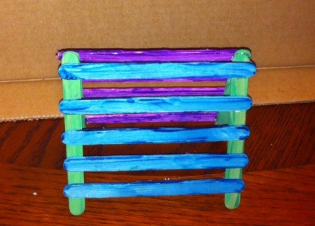 Craft Stick Earring Holder - stand the two sides up tops touching and spread bottoms out