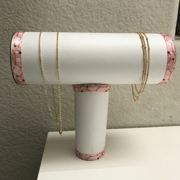 Repurpose Cylinder Container as Jewelry Stand