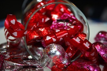 Valentine or Holiday Gift Glass