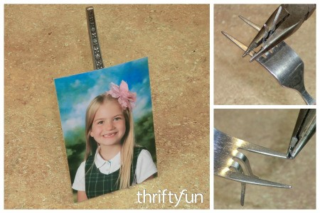 Recycled Fork Photo Holder