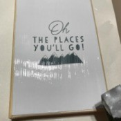 How to Mod Podge Cardstock to Canvas - using sponge brush apply a coat of mod podge to print
