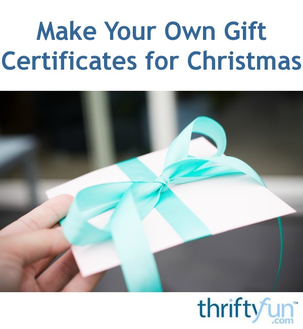 how to make your own gift certificates for free