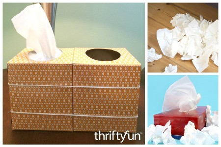 Empty Tissue Box as Trash Can