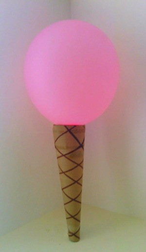 Balloon Ice Cream Cone Decoration - pink balloon ice cream cone