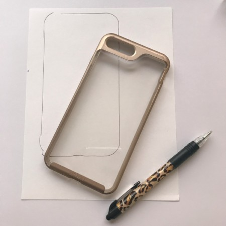 Personalized Cell Phone Case - trace around your cell phone case on a piece of paper