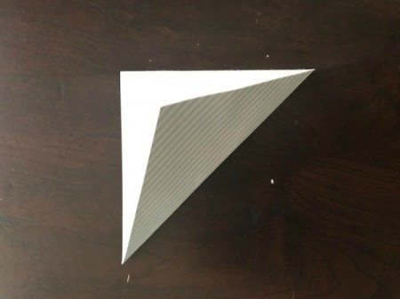 Father's Day Money Holder Card - fold the square diagonally