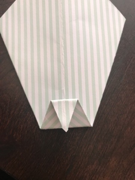 Father's Day Money Holder Card - then fold that tip down