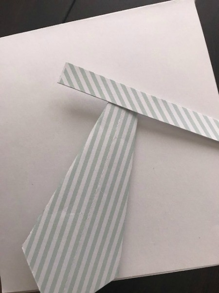 Father's Day Money Holder Card - cut another strip of the tie paper