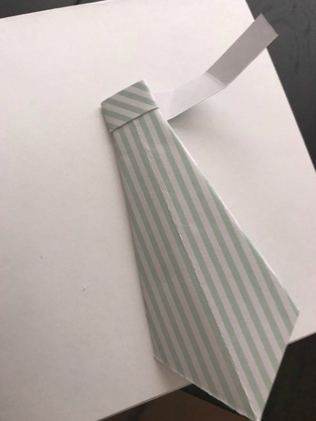 Father's Day Money Holder Card - fold around top of tie to make the knot