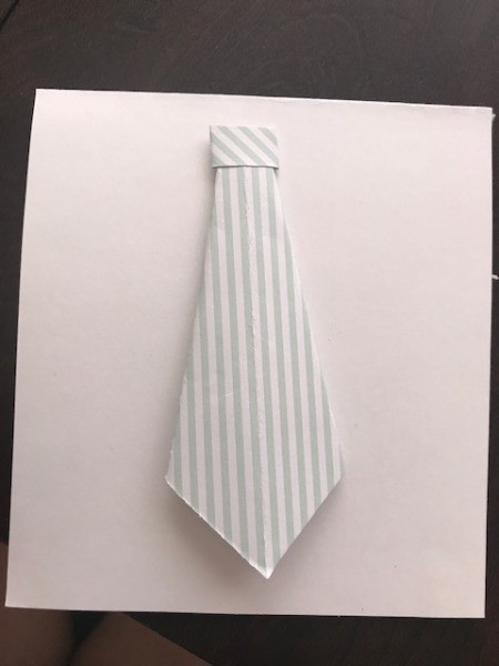 Father's Day Money Holder Card - tie with knot
