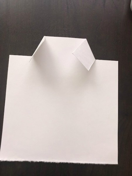 Father's Day Money Holder Card - back to the paper for the shirt cut slits for collar