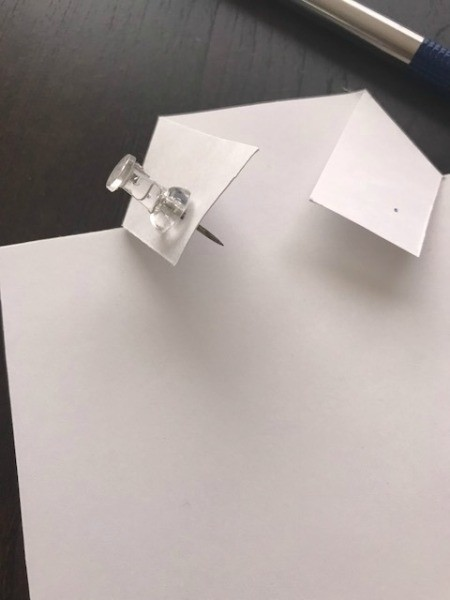 Father's Day Money Holder Card - use a thumb tack to make a hole