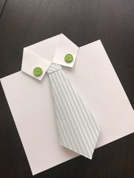 Father's Day Money Holder Card - position tie either beneath