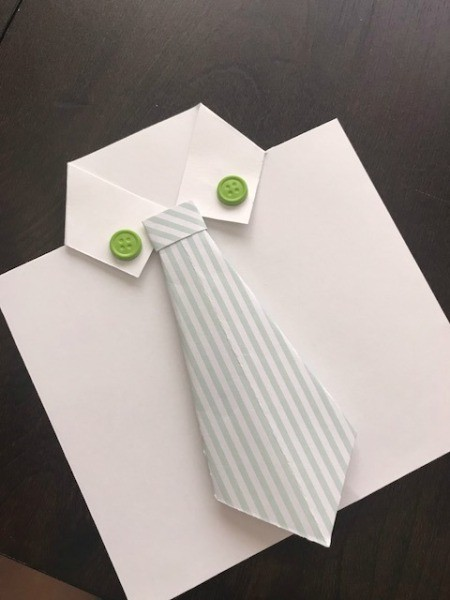 Father's Day Money Holder Card - or above the collar