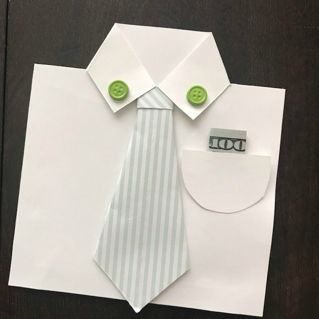 How to make paper shirt and neck tie   Easy origami shirts for ...   640x640
