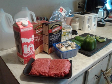 Ground Beef Scalloped Potatoes ingredients
