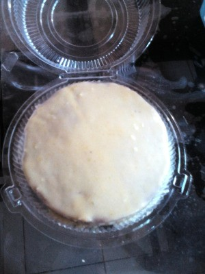 cake covered with custard