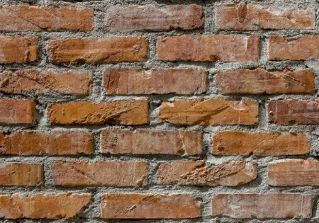 Dried Grout on Bricks