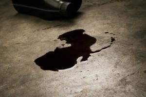 Oil Leaked onto Concrete Floor