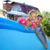 Kids in Above Ground Pool
