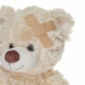 Teddy Bear with Band-Aids