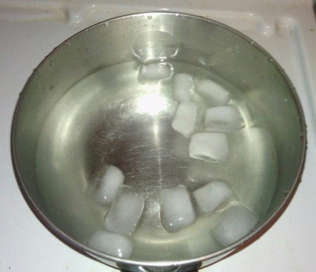 How to Make Crystallized Marbles - prepare bowl of ice water