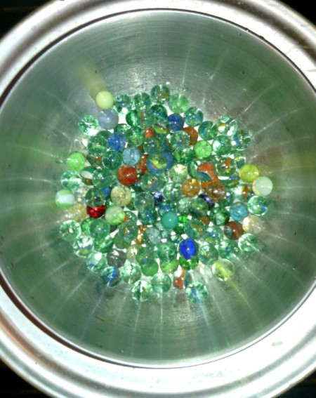 How to Make Crystallized Marbles - crystallized marbles in the bowl