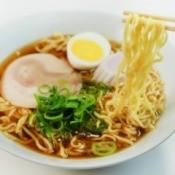 Ramen Noodles in Soup Bowl