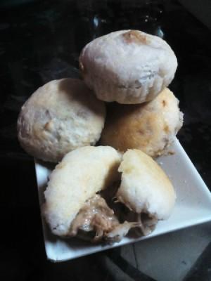 Tuna Mushroom Puffs on plate