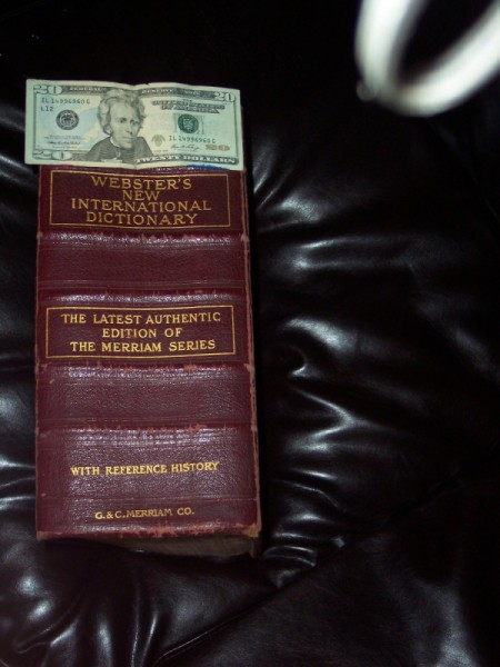 Value of 1909 Webster's Dictionary