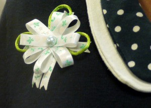 Ribbon and Cord Brooch - allow glue to dry and wear