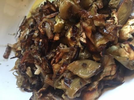 Roasted Eggplant, onion and garlic