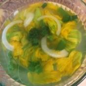 Green Pumpkin Flower Soup