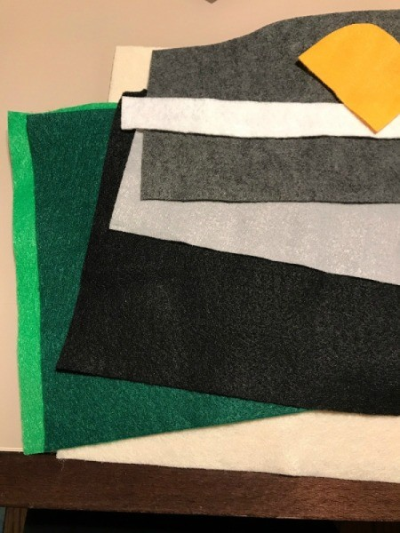 Pennant Flag Kids Room Decor - felt pieces