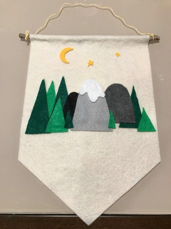 How To Make A Felt Pennant Flag For A Kid S Room Thriftyfun