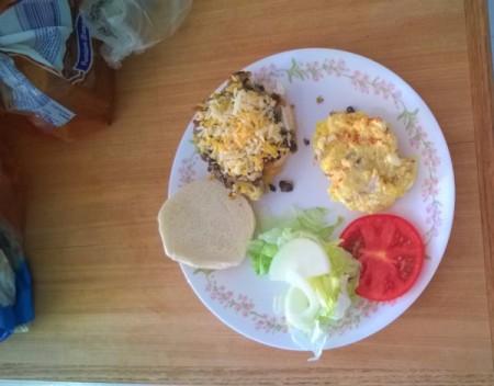 Black Bean Veggie Burger on plate
