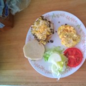 Black Bean Veggie Burger on plate