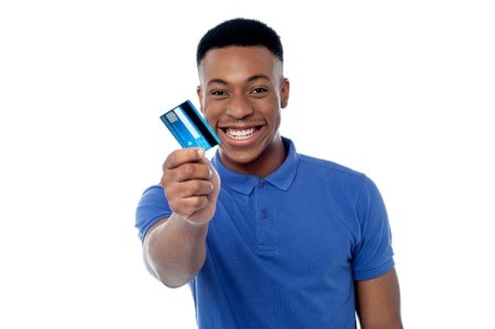 Teenager With Credit Card