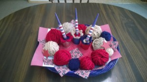 Crocheted Americana Centerpiece - finished centerpiece