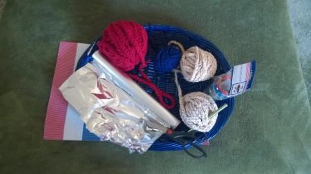 Crocheted Americana Centerpiece - supplies