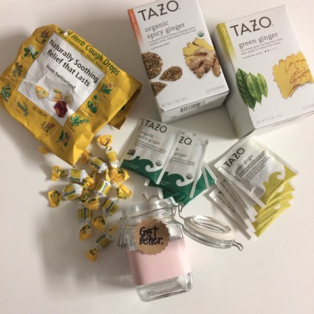 Get Well Soon Gift Jar - assorted teas and cough drops