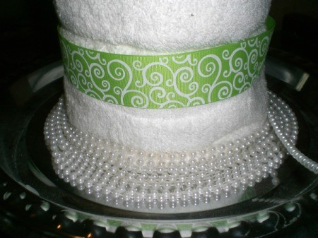 Bridal Shower Centerpiece or Gift - wrap with the string of beads, tuck under ends